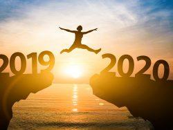 person jumping from 2019 to 2020